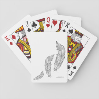 Color Me Feathers Fall Zen Doodle Illustration Playing Cards