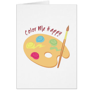 Color Me Happy Greeting Card