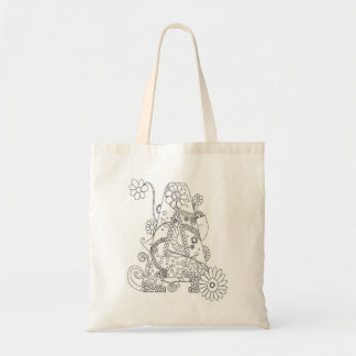 """Color Me Hippy Initial """"A"""" Budget Tote Budget Tote Bag"""