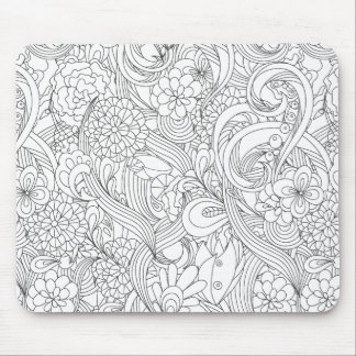 Color Me In•Camellia Flower Pattern Mouse Mat