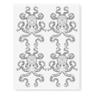Color Me Octopus Nautical Zen Doodle Illustration