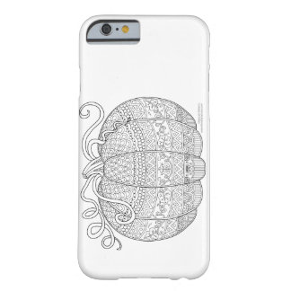 Color Me Pumpkin Halloween Zen Doodle Illustration Barely There iPhone 6 Case