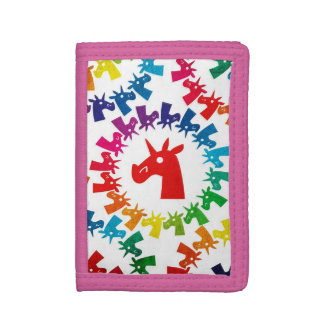 Color Me Rainbow Unicorn Tri-fold Wallet