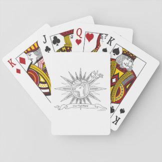 Color Me Reindeer Holiday Zen Doodle Illustration Playing Cards