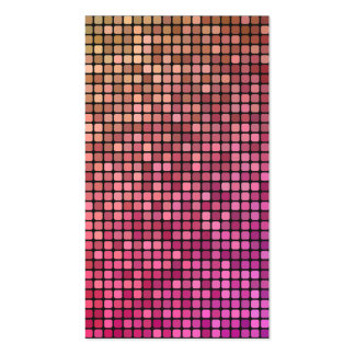 Color mosaic business cards