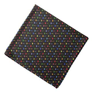 color music notes pattern bandana