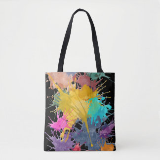 Color my Life splashes + your backgr. & ideas Tote Bag