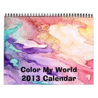 Color My World 2016 Calendar
