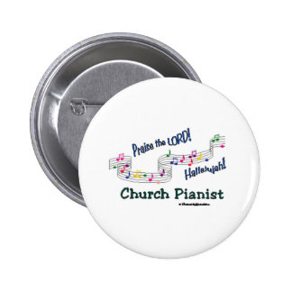 Color Notes Pianist 6 Cm Round Badge