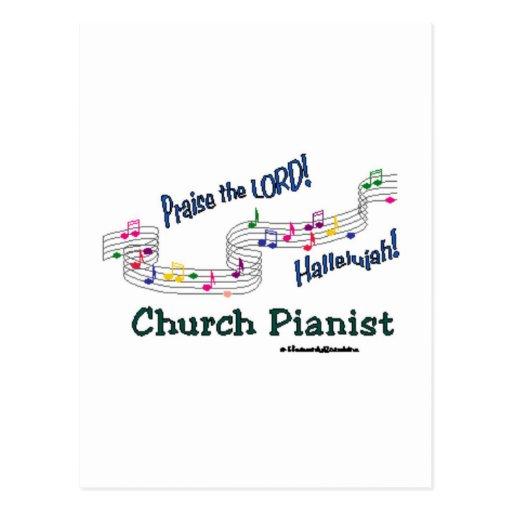 Color Notes Pianist Postcard