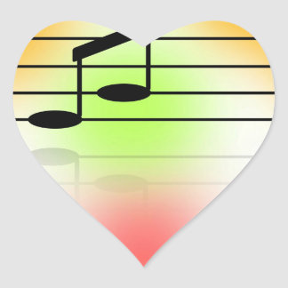 Color of Music Heart Sticker