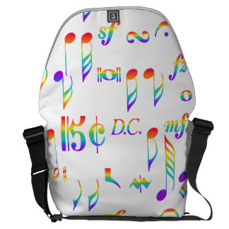 Color of Music Rainbow Notes Collage Commuter Bag