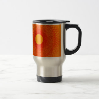 color orange happines abstract art stainless steel travel mug