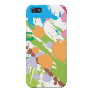 Color Paint Blots Hard Shell Case for iPhone 4/4S iPhone 5 Cover