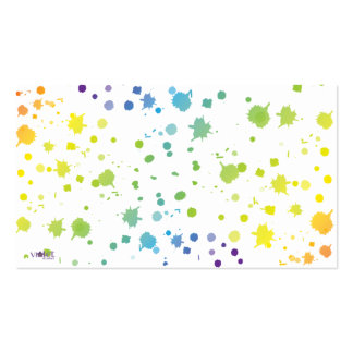 Color Paint Drips Card Pack Of Standard Business Cards