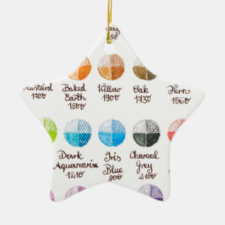 Color palette christmas ornament