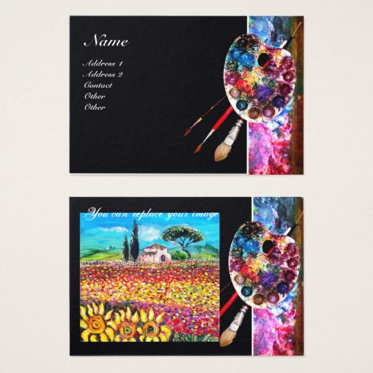 COLOR PALETTE, PAINTER,ARTIST PHOTO TEMPLATE BUSINESS CARD