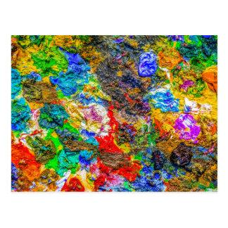 Color palette postcard