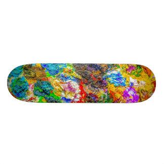Color palette skate board