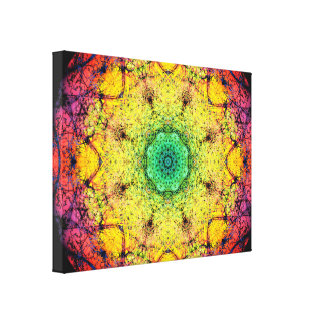 Color Paradise Mandala Canvas Print