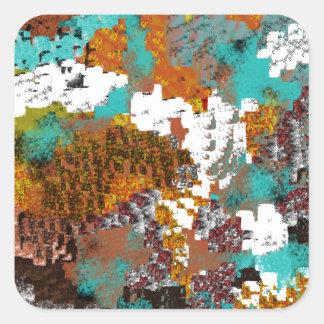 Color Pattern Block Mix Square Sticker