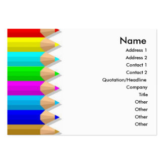 Color Pencils Profile Card Business Cards
