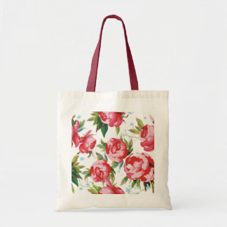 Color Peony Seamless Pattern Tote Bag