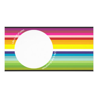 color photo card template
