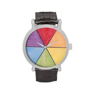 color pizza wristwatch