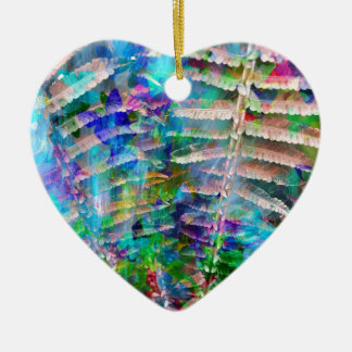 Color Play Ceramic Heart Decoration