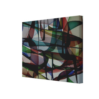 Color Pockets - Abstract Canvas Print