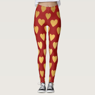Color Pop Hearts Valentine or Any Time Leggings