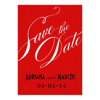 Color Pop Pinstripe Signature Save the Date red Invite