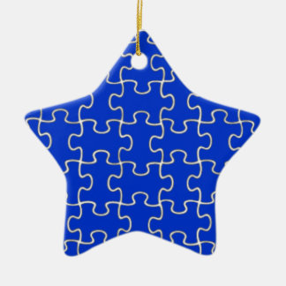 color puzzle pieces christmas ornament