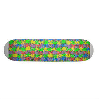 Color puzzle skateboards