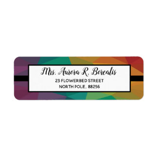 Color Rainbow geometric design address label