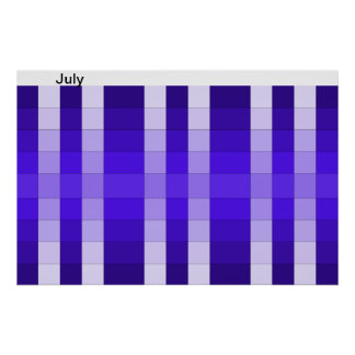 Color Rainbow Poster Month July Calendar 7