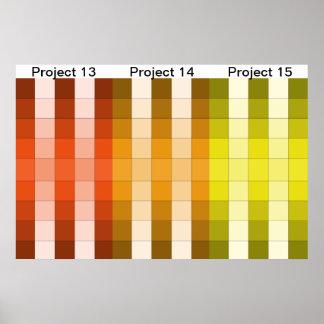 Color Rainbow Poster Project Calendar 5