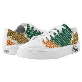 color retro shoes printed shoes