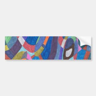 """Color Rush"" Abstract Bumper Sticker"