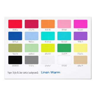 Color Sample Linen Warm 13 Cm X 18 Cm Invitation Card