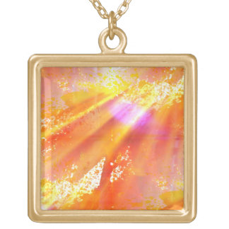 color seamless art background yellow, orange gold plated necklace