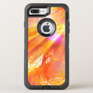 color seamless art background yellow, orange OtterBox defender iPhone 8 plus/7 plus case