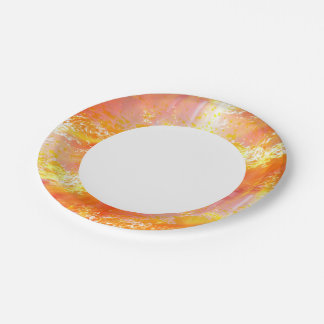 color seamless art background yellow, orange paper plate