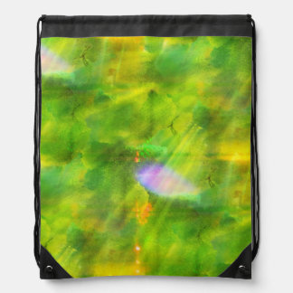 color seamless background green, yellow drawstring bag
