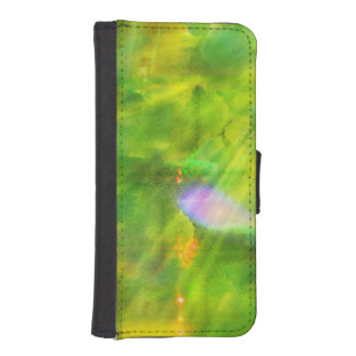 color seamless background green, yellow iPhone SE/5/5s wallet case