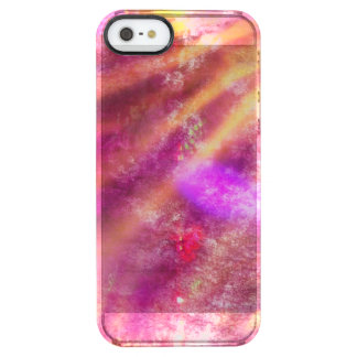 color seamless background purple, pink clear iPhone SE/5/5s case