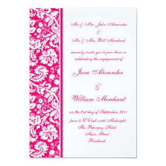 Color Select Damask Engagement Party Invitation