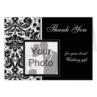 Color Select Damask 'Thank You' Photo Card
