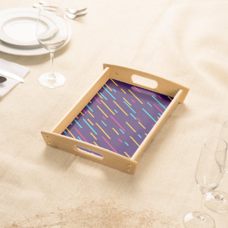 Color Shower Abstract Background Serving Tray